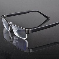Wholesale Fashion new blue film resin metal half frame reading glasses Cock wire glasses upscale