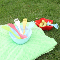 Wholesale Plastic spoon fork outdoor spork colors By DHL Fedex