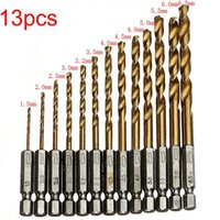 Wholesale High Speed Steel Titanium Coated Drill Bit Set Hex Shank mm