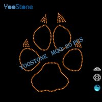 animal iron ons - Manufacturer China Customize Bling Paw Print Rhinestone Iron Ons