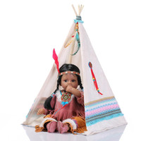 american kids collection - New Arrival Indian Silicone Reborn Baby Girls Dolls Bebe Reborn Kids Toys Adora Native American Indian Dolls Collection SB11