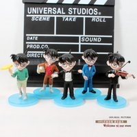 age of conan - 5pcs set Anime Cartoon Detective Conan Full Score of Fear PVC Action Figure Collectible Toys Dolls cm DCFG010
