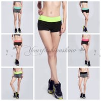Wholesale DHL Free New Summer Woman Running Shorts Breathable Fitness Compression Yoga Shorts Elastic Female Training Gym Beach Sports Shorts Z145