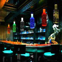 beer bottle art - Modern Fashion LED Crystal Bar Lamp Pendnat Lights Beer Bottles Art Restaurant Decor YSL B