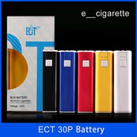 battery powered cigarette - 100 Authentic First plastic box mod designed by ect eT P electronic cigarette mah battery Plus Power w via DHL e cigarette