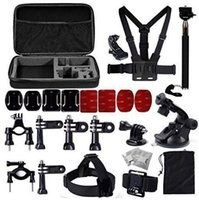 bicycle accessories bag - Gopro accessories set Storage bag chest strap Bicycle bracket kit headband and Self stick for SJ4000 SJ5000 Xiaomi Yi