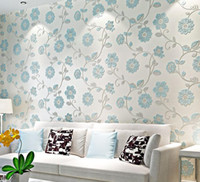 Wholesale Modern fashion flower D wallpaper roll wall paper sofa bedroom living room TV background wall papel de parede floral