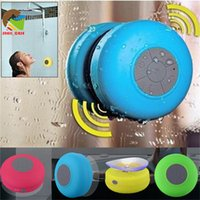 bathroom music player - IPX4 suction waterproof speakers boxes wireless bluetooth stereo music players handfree receive call bathroom shower car use mini speaker