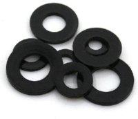 Wholesale 200 Nylon M8 Washer mm x16mm x1 mm thickness w74 x16x1 black Nuts amp Bolts