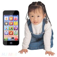 baby toy mobile phone - Hot Sale Baby YPhone Mobile Phone simulation Educational Toy USB Cable Xmas