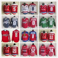 alexander ovechkin jersey - NHL Ice Hockey Washington Capitals Jerseys Alexander Ovechkin Rod Langway Mike Gartner Dennis Maruk Mike Green John Carlson CCM Vintage