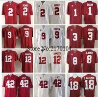 Wholesale New Alabama Crimson Tide Jersey Red College Football Derrick Henry Julio Jones Amari Cooper McCarron Joe Namath Bate