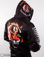 art mma - MMA Hoodie Tiger Muay Thai Fighting Zipper Hoodies fleece jacket Men Sweatshirts Suit Unisex King Martial Art Coat