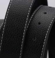 Wholesale H men s leather belt buckle business pure leather belt buckle smooth double Korean alphabet leisure belt youth