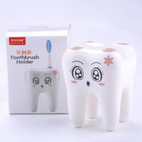 Wholesale NEW Cartoon Hole Toothbrush Holder Stand Brush Rack Tooth Brush Shelf Holder