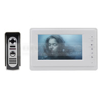 Wholesale Video Door Phone Intercom TVLine IR Camera inch TFT Color LCD Display Doorbell IR Night Vision for Home Office