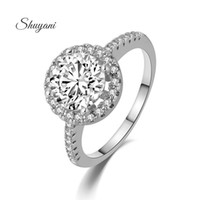 Wholesale SHUYANI Jewelry Round Cut AAA Rings For Women K Rose Gold White Plated CZ Engagement And Wedding Rings Fashion Jewelry