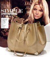big buckets - 2016 new double handbags shoudler bags for women handbag Big fashion designers drawnstring Big bag KB