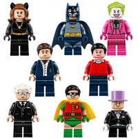 baby dc - Building Blocks Super Heroes DC Comics Batman Minifigures Classic TV Series kids baby toys bricks PG8009
