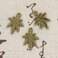 antique bronze flower vintage pendant - 120pcs Charms leaf mape mm Antique Making pendant fit Vintage Tibetan Bronze DIY bracelet necklace