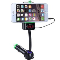 Wholesale Universal phone holder with Car FM transmitter hand free car kit MP3 player Aux in audio car charger