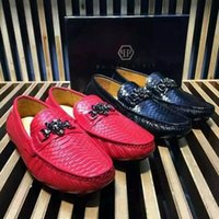 american classic shoes - 2016 PP American and European fashion PHILIPP PLEIN leather flat shoes classic men shoes size