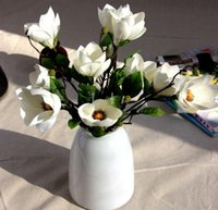 artificial branches - 2016 best selling artificial flowers single magnolia branch fake flowers silk wedding flowers home decoration HJIA490