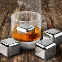 beer ice cubes - 304 Stainless Steel Ice Cubes Ice Stones Chillers Stone Whiskey Wine Beer Cooler Stones Party Bar Cold Stones Drinking Ice Stone PPA31