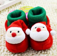 Wholesale Baby Toddler Shoes First Walker Baby Shoes Girls Boys Santa Claus Father Christmas Baby Prewalker Newborn Baby Shoes Infant Walking Shoes