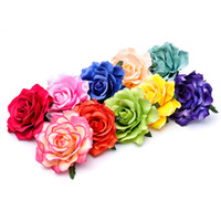 Wholesale 2016 New Women Big Rose Hair Clips Hairpin Girl Cute Flower Barrettes Hair Pin Hair Accessories Wedding Party Flower Brooch Barrettes