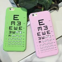 acuity testing - Funny Lamb Visual Acuity Test Chart Matting Hard Plastic Sheep Frosted Back Case For Apple iPhone s Plus s Plus