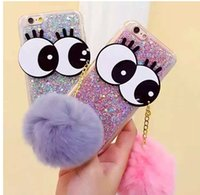 big apple bag - Case For iPhone New Fashion D Cartoon Big Eyes Bling Glitter Cell Phone Cases Silicone Back Cover Bag for iPhone