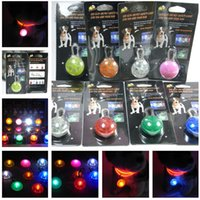Wholesale LED flash safety night light clip safety pendant tag lights dogs Blinker Collars equipment