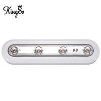 best lighting for closets - Best Price Kingso LED Touch Sensor Night Light Battery Powered For Closet Stairs Bedroom Cabinet Lamp Light Warm White DC4 V