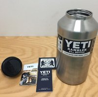 beer bottle cooler sleeve - Yeti oz Rambler Stainless Steel Cups Ultra Large Capacity Cooler YETI Rambler Tumbler Cup Vehicle Beer Bottle Bilayer Insulated PPA196