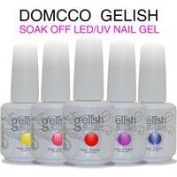 Wholesale DOMCCO Harmony Gelish Nail Polish Soak Off UV Gel Polish Solid UV Gel Nail Art Tips Design Extension Nails DIY Sets Gel Nail Polish DHL Free