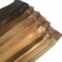 ash blonde hair color - quot g Quad Weft One Piece Clip in Hair Extensions Ash Blonde Mixed Color P18 Clip in Hair