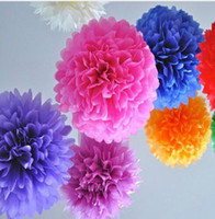 paper pom poms - tissue paper flower ball Colorful Tissue Paper Pom Poms wedding favors and gifts in event party supplies
