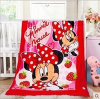 Wholesale Kid Doraemon Mickey Blankets KT Winnie Minnie Blankets Cartoon Blankets Animal Print Thicken Blankets Nap Offica Blankets A1047 p