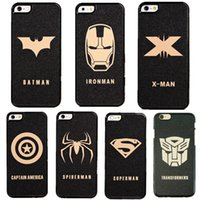 Wholesale Superman Case For Coque iPhone plus Case Spiderman Carcasa Batman Matte Plastic Funda For Capa Para iPhone s s plus Cases Capinh