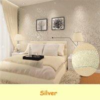 best price wallpaper - The Best Price Wall paper Roll Home Decoration Wallpaper Living Room TV Background Bedroom Sliver Color m cm