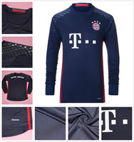 Wholesale 2016 Long Sleeve Bayern Goalkeeper Soccer Jerseys Munich Jersey Manuel Neuer Starke Ulreich Goalie Football Kits Sets Shirts