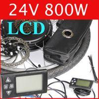 Wholesale 24V W LCD Electric Bike Disc brake kit DC hub motor conversion kits ebike kits Front wheel or rear wheel