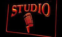 air studios - Ls282 r Studio On The Air Microphone Bar Neon Light Sign jpg