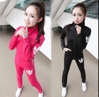basketball hoodie designs - 2016 Women Tracksuits Two piece Sets Tops pants Fashion design Women Sweatshirt EAR7 pink Hoodies Cotton sportwear Vintage jogging sports