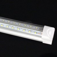 Wholesale Shopping V Shaped ft ft ft ft Led Tube Light T8 Integrated Led Tubes Double Sides SMD2835 Led Fluorescent Lights AC85 V CE RoHS FCC