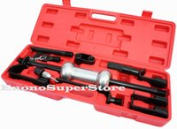 auto dent puller - 13PC Heavy Duty Dent Puller Repair Tool Kit w lbs Slide Hammer Auto Body Truck knurled handle
