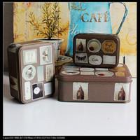 american metal stamping - Big Ben butterfly stamp set brown color sets of rectangular storage box tin Metal Box Jewelry Tea box set