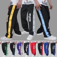 Men play panel - open buckle pants playing basketball warm up pants basketball pants buckle pants male sports trouserscasual trousers