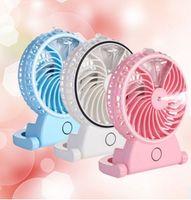 Wholesale New desktop mini beauty humidification fan mute spray small fan portable line USB cooling office fan
